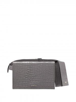 Поясная сумка с логотипом Juun.J. Цвет: серый
