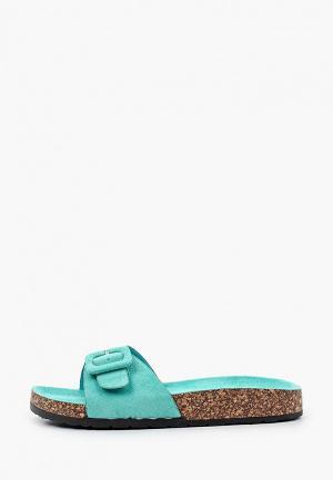 Сабо Ideal Shoes. Цвет: бирюзовый