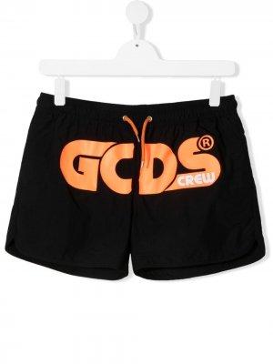 Плавки-шорты с логотипом Gcds Kids. Цвет: черный