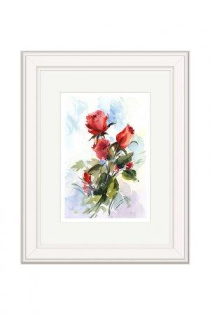 Картина Альпийские розы OLGA GLAZUNOVA. Цвет: красный