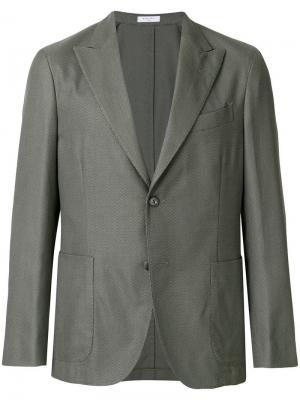 Classic blazer Boglioli. Цвет: зеленый