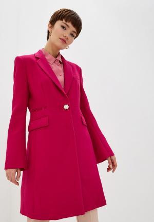 Пальто Pinko. Цвет: розовый