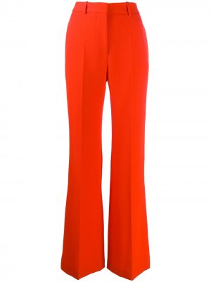 Брюки широкого кроя с завышенной талией Victoria Beckham. Цвет: оранжевый
