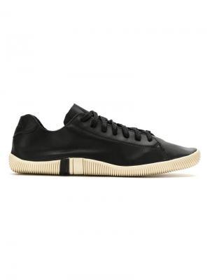 Leather lace-up sneakers Osklen. Цвет: черный