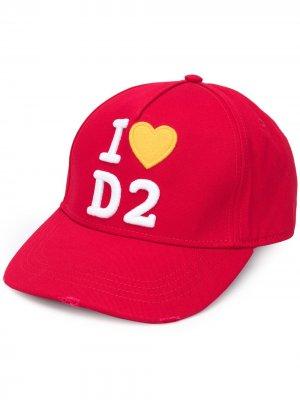 Кепка с вышитым логотипом Dsquared2. Цвет: красный