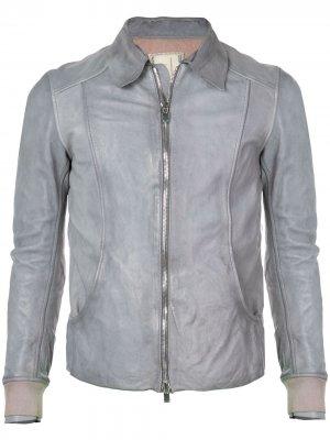 Байкерская куртка Guidi. Цвет: синий