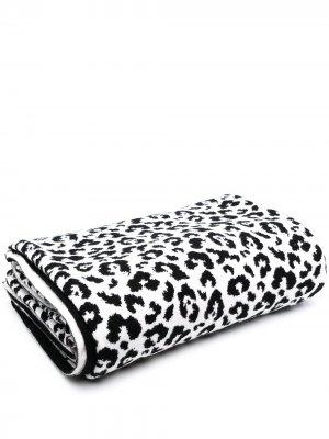 Одеяло с леопардовым принтом AMI AMALIA. Цвет: белый