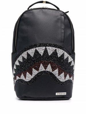 Декорированный рюкзак Trinity Shark Sprayground. Цвет: черный