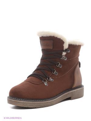 Ботинки Amazonga. Цвет: коричневый