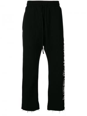 Спортивные брюки с принтом R13. Цвет: черный