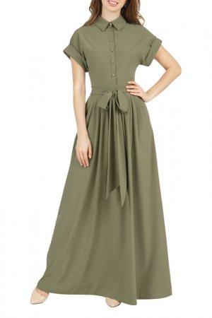 Платье Olivegrey. Цвет: хаки
