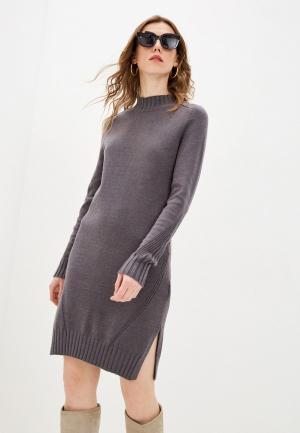 Платье Zarina. Цвет: серый