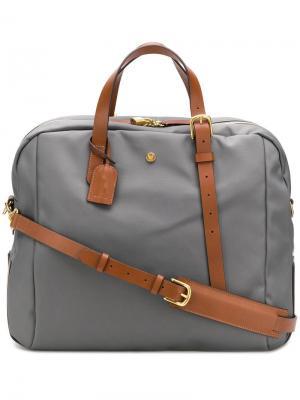 Дорожная сумка с контрастными ручками Mismo. Цвет: серый