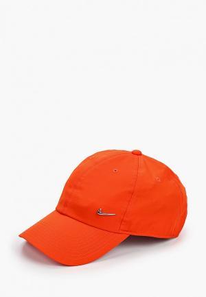 Бейсболка Nike. Цвет: оранжевый