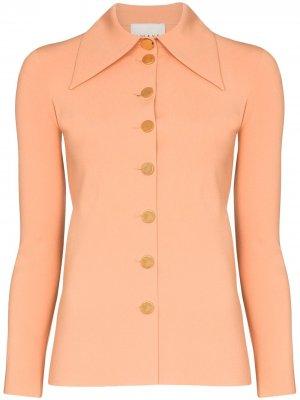 Рубашка на пуговицах с широким воротником A.W.A.K.E. Mode. Цвет: оранжевый