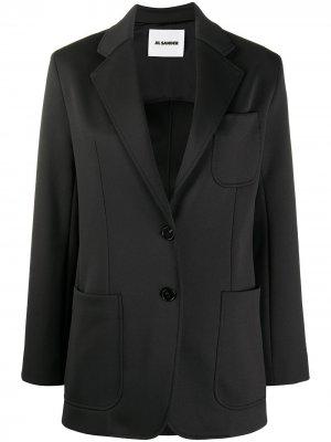 Однобортный пиджак Jil Sander. Цвет: черный