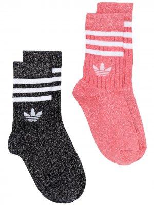 Комплект носков Full-Glitter adidas. Цвет: розовый