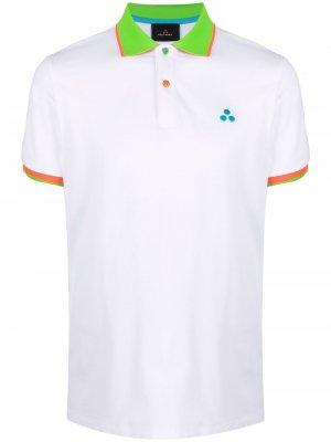 Рубашка поло с короткими рукавами Peuterey. Цвет: белый