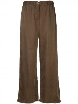Расклешенные брюки широкого кроя Raquel Allegra. Цвет: синий