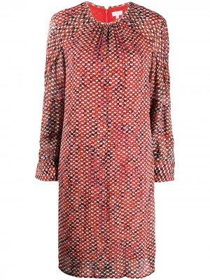 Платье миди со змеиным принтом Lala Berlin. Цвет: красный