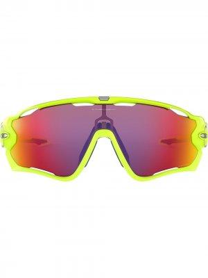 Солнцезащитные очки Jawbreaker Oakley. Цвет: желтый