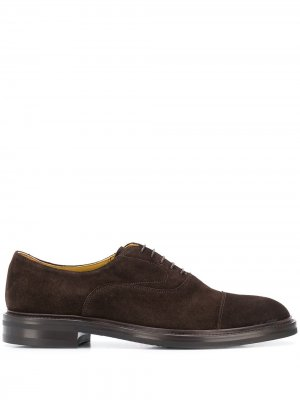 Оксфорды Jacob на шнуровке Scarosso. Цвет: коричневый
