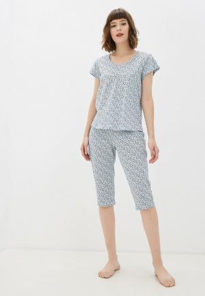 Пижама NYMOS. Цвет: голубой