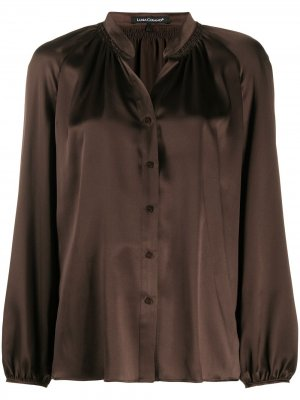 Блузка с воротником без застежки Luisa Cerano. Цвет: коричневый