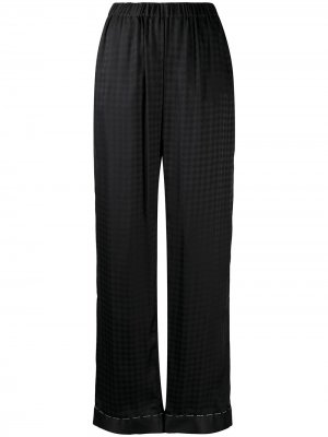 Пижамные брюки с геометричным узором Balmain. Цвет: черный