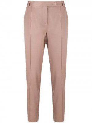 Зауженные брюки средней посадки Styland. Цвет: розовый
