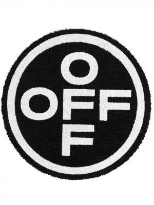 Придверный коврик с логотипом OFF Off-White. Цвет: черный