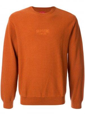 Джемпер с круглым вырезом Supreme. Цвет: коричневый