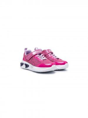 Кроссовки на липучках Geox. Цвет: розовый