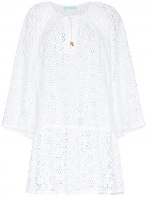 Пляжное платье мини Corina Melissa Odabash. Цвет: белый