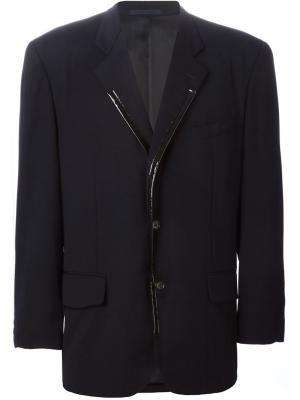 Пиджак с контрастной отделкой лацканов Comme Des Garçons Vintage. Цвет: синий