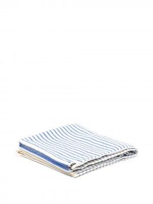 Полосатое полотенце из органического хлопка TEKLA. Цвет: синий