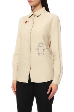 Рубашка ELMIRA MARKES. Цвет: бежевый