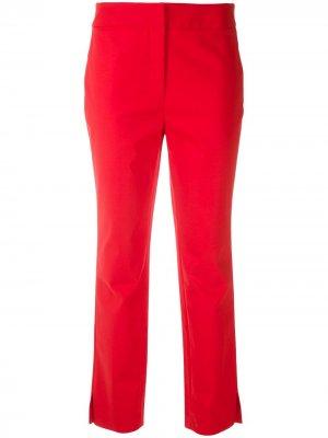 Прямые брюки строгого кроя Eva. Цвет: красный