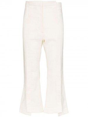 Укороченные брюки Delada. Цвет: белый