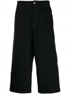 Укороченные джинсы широкого кроя Société Anonyme. Цвет: черный