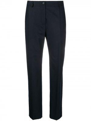 Прямые брюки средней посадки Agnona. Цвет: синий