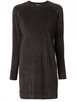 Бархатное платье-толстовка James Perse. Цвет: зеленый