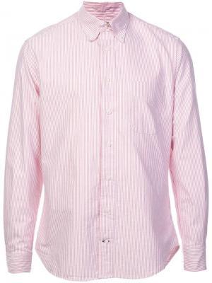 Рубашка в полоску на пуговицах Gitman Vintage. Цвет: розовый