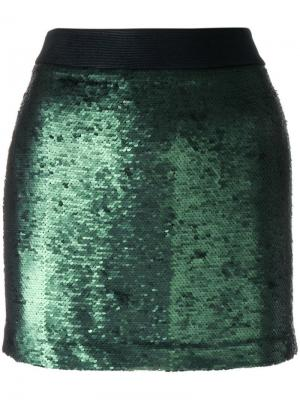 Юбка мини Disco Black Coral. Цвет: зеленый