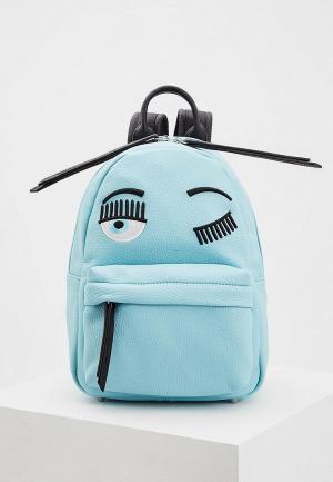 Рюкзак Chiara Ferragni Collection. Цвет: голубой