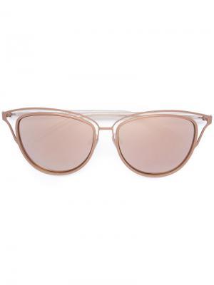 Солнцезащитные очки с резным дизайном Monique Lhuillier. Цвет: металлический