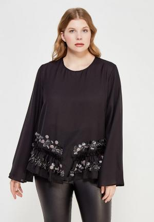 Блуза Lost Ink Plus. Цвет: черный