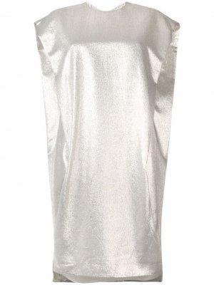 Платье миди прямого кроя Poiret. Цвет: золотистый