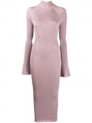 Трикотажное платье с рукавами колокол LANVIN. Цвет: розовый