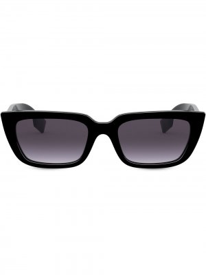 Солнцезащитные очки в квадратной оправе с эффектом градиента Burberry Eyewear. Цвет: черный